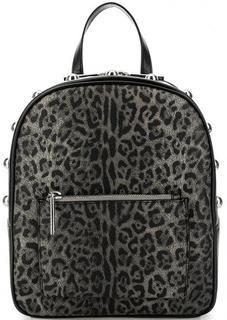 Рюкзак серого цвета с животным принтом Cavalli Class