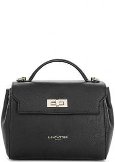 Маленькая кожаная сумка черного цвета Lancaster