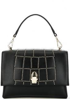 Маленькая черная сумка с откидным клапаном Cavalli Class