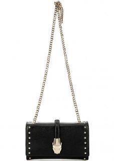 Маленькая черная сумка через плечо Cavalli Class