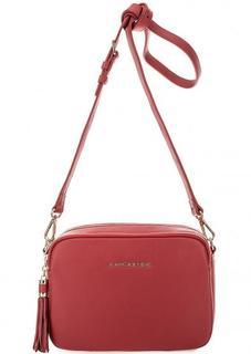 Красная кожаная сумка через плечо Lancaster