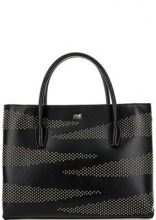 Черная кожаная сумка на молнии Cavalli Class