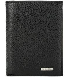 Черное портмоне из фактурной кожи Lancaster