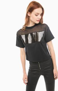 Черная футболка с глянцевым принтом Calvin Klein Jeans