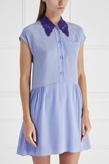 Шелковое платье-рубашка Miu Miu