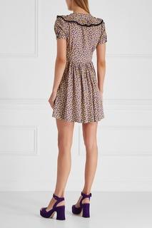 Платье с принтом Miu Miu