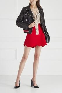 Однотонная юбка Miu Miu