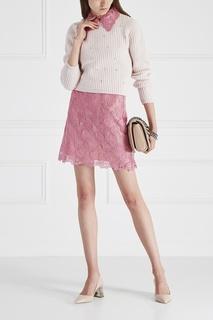 Хлопковая юбка Miu Miu