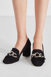 Замшевые туфли Miu Miu