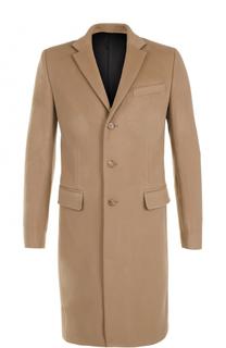 Однобортное пальто из смеси шерсти и кашемира Givenchy