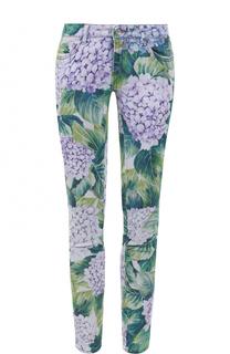 Укороченные джинсы-скинни с принтом Dolce & Gabbana