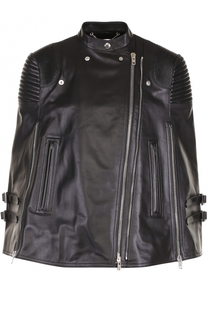 Кожаный кейп свободного кроя Givenchy