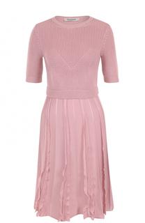 Вязаное мини-платье с коротким рукавом Valentino