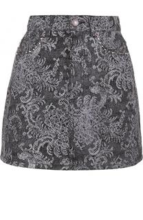 Джинсовая мини-юбка с декоративной отделкой Marc Jacobs