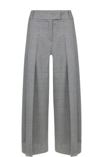 Укороченные широкие брюки со складками Michael Kors
