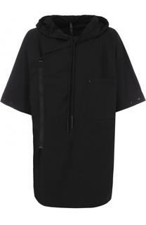 Удлиненная хлопковая рубашка свободного кроя на молнии с капюшоном Barbara I Gongini