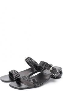 Кожаные босоножки на фигурном каблуке Dries Van Noten