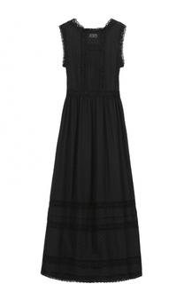 Кружевное приталенное платье-макси REDVALENTINO