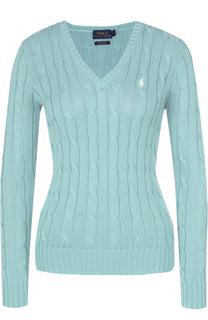 Пуловер фактурной вязки с V-образным вырезом Polo Ralph Lauren
