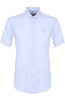 Льняная рубашка с короткими рукавами Armani Collezioni