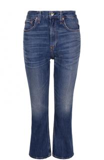 Укороченные расклешенные джинсы с потертостями Rag&Bone Rag&Bone
