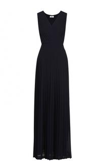 Плиссированное платье-макси с V-образным вырезом Weill