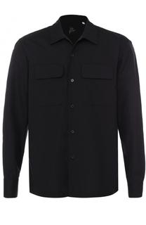 Хлопковая рубашка с отложным воротником Yohji Yamamoto