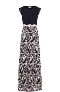 Платье-макси с кружевной юбкой и оборками Weill