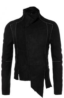 кожаная куртка на молнии асимметричного кроя Barbara I Gongini
