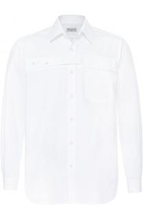 Хлопковая рубашка с декоративной отделкой Dries Van Noten