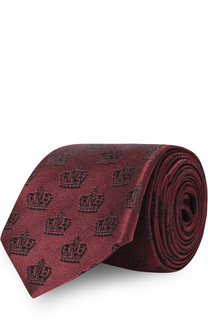 Шелковый галстук с узором Dolce & Gabbana