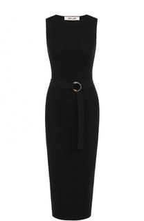 Платье-футляр фактурной вязки с поясом Diane Von Furstenberg