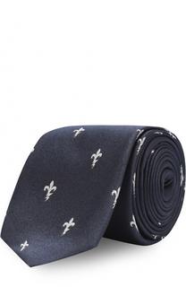 Шелковый галстук с узором Neil Barrett