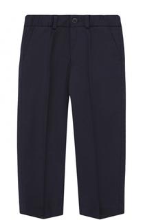Хлопковые брюки прямого кроя с прострочкой Dolce & Gabbana