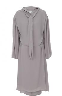 Платье свободного кроя с воротником аскот Balenciaga
