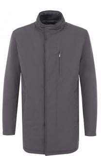 Удлиненная куртка на молнии с воротником-стойкой BOSS