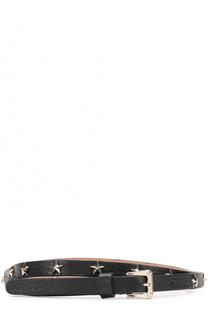 Кожаный ремень с металлическими заклепками REDVALENTINO