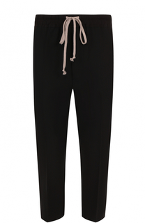 Шерстяные укороченные брюки свободного кроя Rick Owens