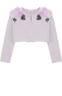 Шелковое болеро с цветочной аппликацией Dolce & Gabbana