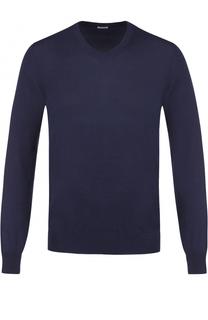 Хлопковый пуловер тонкой вязки malo