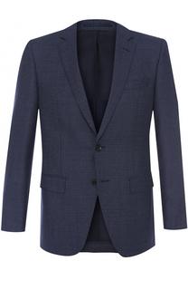 Шерстяной однобортный пиджак HUGO