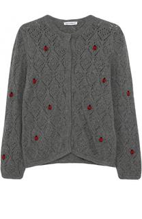 Кардиган фактурной вязки с декором Dolce & Gabbana