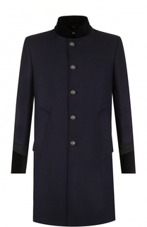 Однобортное пальто из смеси шерсти и кашемира Just Cavalli