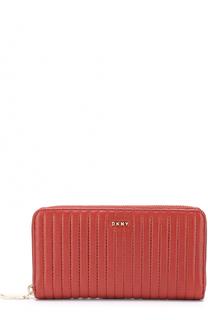 Бумажник из стеганой кожи на молнии DKNY