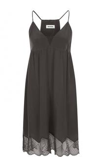 Шелковое мини-платье с кружевной отделкой Zadig&Voltaire Zadig&Voltaire