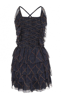 Шелковое мини-платье с оборками Isabel Marant Etoile