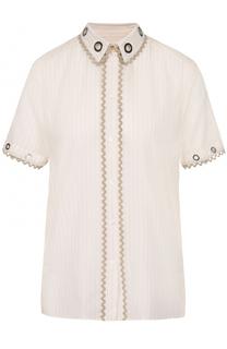 Блуза в полоску с укороченным рукавом Kenzo