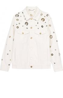 Джинсовая куртка с металлизированной отделкой Kenzo