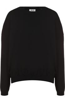 Пуловер свободного кроя с круглым вырезом Acne Studios