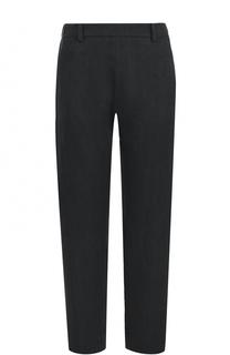 Укороченные льняные брюки прямого кроя Ilaria Nistri